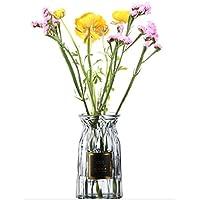 ホーム インテリア ガラス 花瓶 ボトル フラワーベース 水耕栽培 雑貨 飾り 容器 装飾