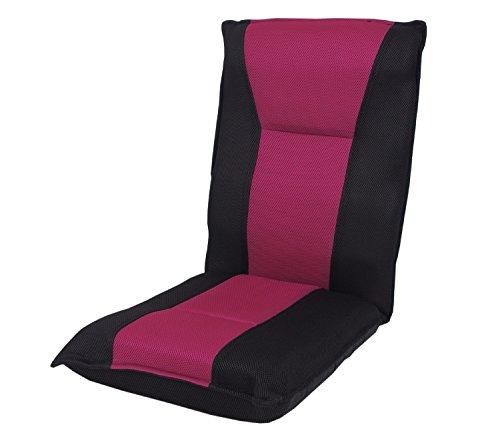 ネクスト(Next) 座椅子 フリーロック 低反発ウレタン 42段階 リクライニング ブラック/ピンク
