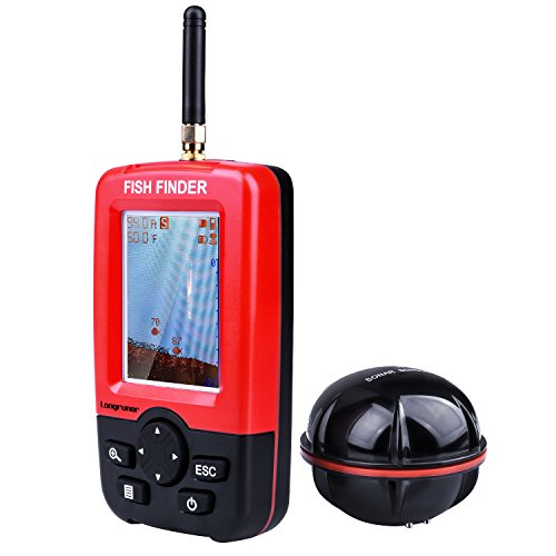 Longruner 魚探 携帯式 魚群探知機 Fish finder ソナーセンサー 液晶ディスプレイ 大漁くん 釣り道具 防水