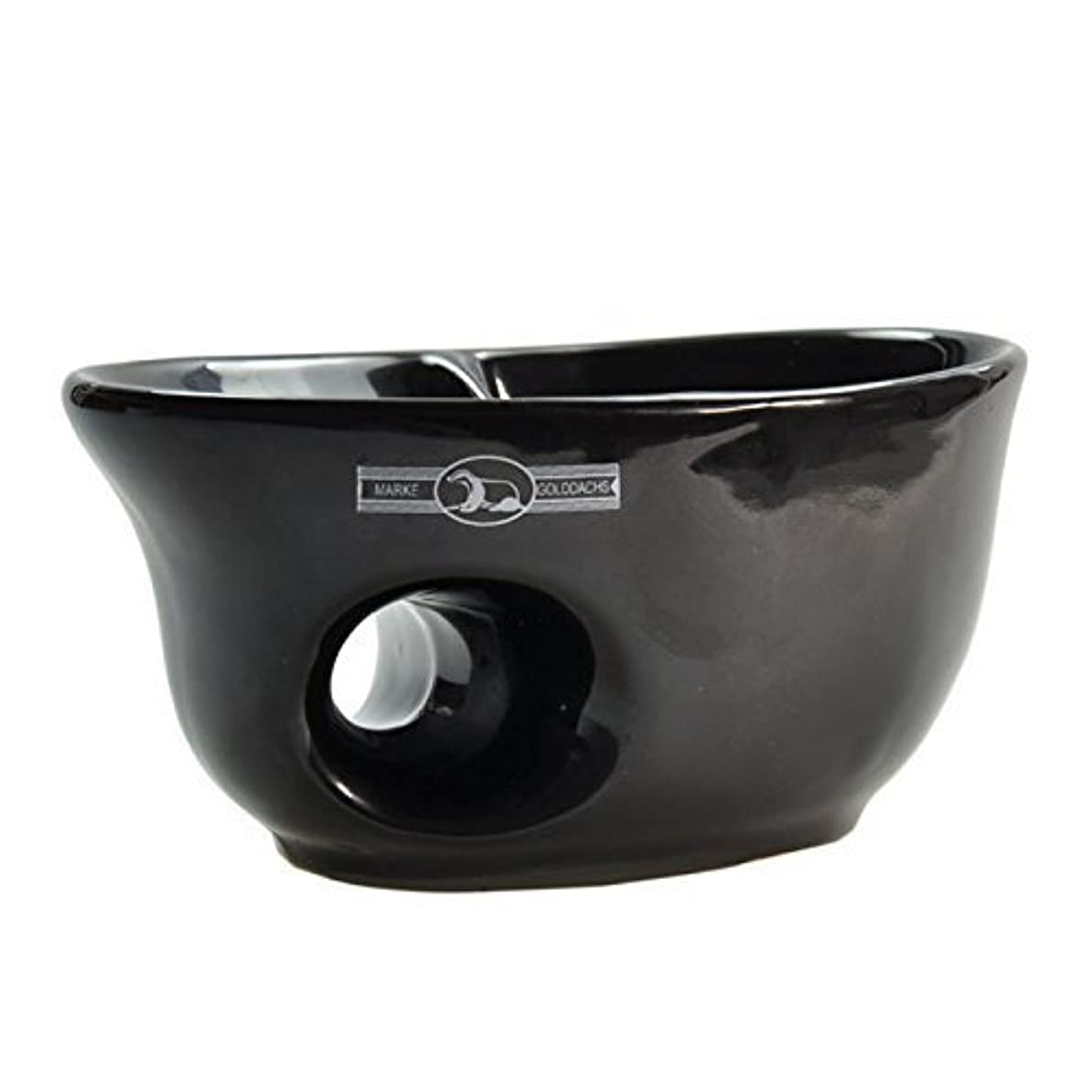 つま先ベット罪人Golddachs shaving pot, porcelain with finger hole, black