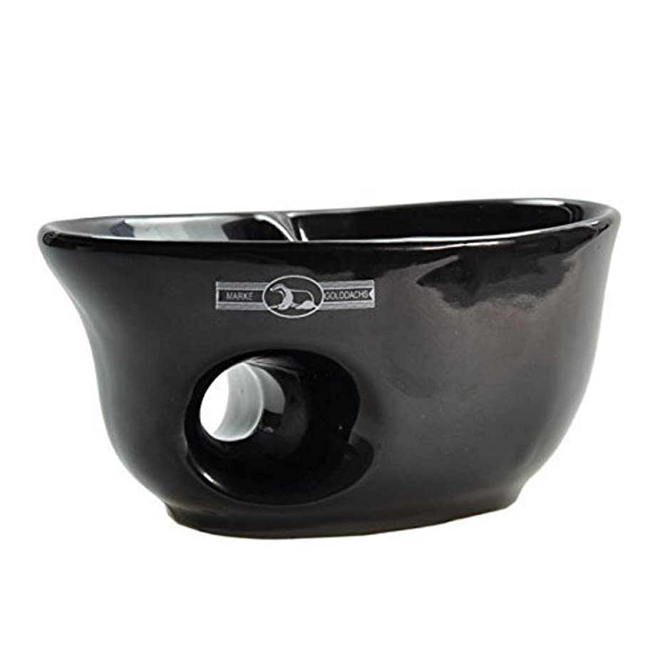 クモ財産フライカイトGolddachs shaving pot, porcelain with finger hole, black