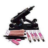 バイブレーター 自動引き込み式 性機械10 付属品オナニー銃突き出す速度調節可能な性 おもちゃ、ピンク,ブラック