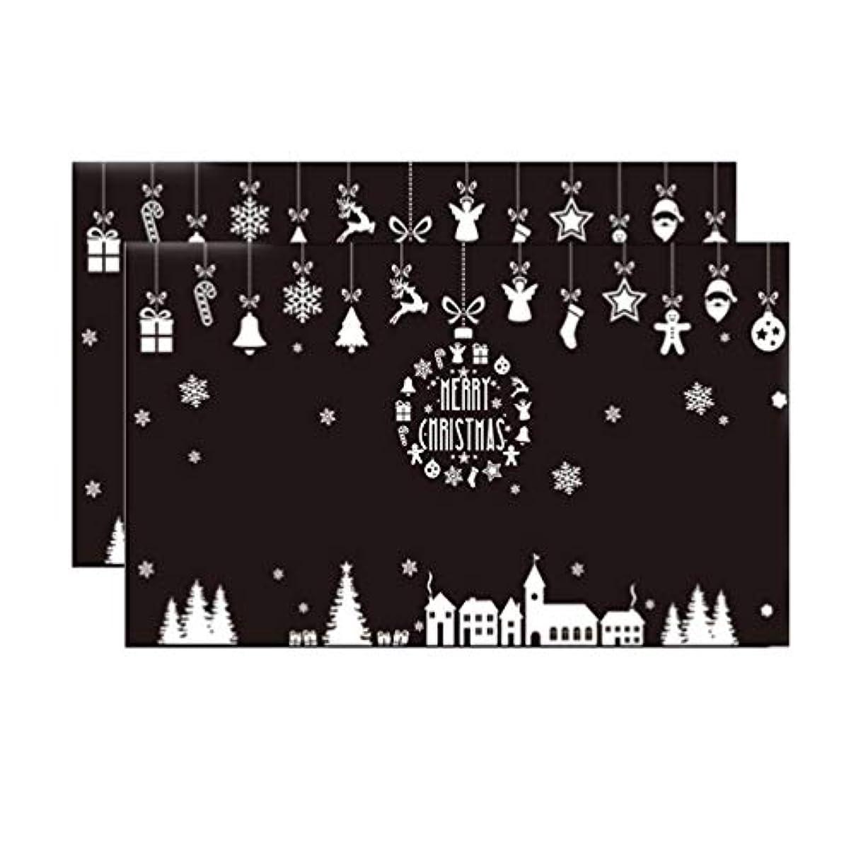 守銭奴用語集ポテトSUPVOX 2枚のクリスマスウィンドウにしがみつく装飾スノーフレークウィンドウデカールステッカークリスマス冬のホリデーパーティー用品好意