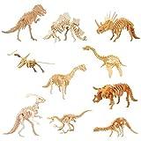 HAMILO 恐竜 工作キット 木製 草食系 肉食系 創造力 白木 組み立て 色付け ペイント 図画