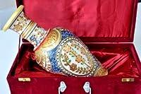 インド ラジャスターン 花瓶 手作り 大理石