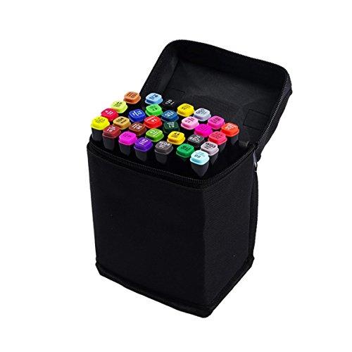 蛍光ペン マーカーペン 中字角芯 細字丸芯 カラーペン 30本セット SSMP-30