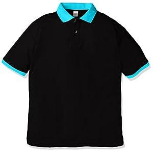 (ユナイテッドアスレ)UnitedAthle 5.3オンス ドライカノコ ユーティリティー ポロシャツ 505001 [メンズ] 2072 ブラック/ターコイズブルー M
