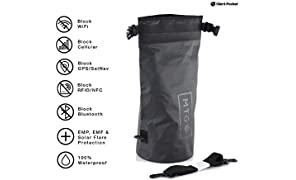 Silent Pocket Waterproof Faraday Dry Bag - Military-Grade Nylon 5 Liter Faraday Bag - RFID Signal Blocking Dry Sack/Waterproof Backpack Protects Electronics from Water, Spying, Hacking
