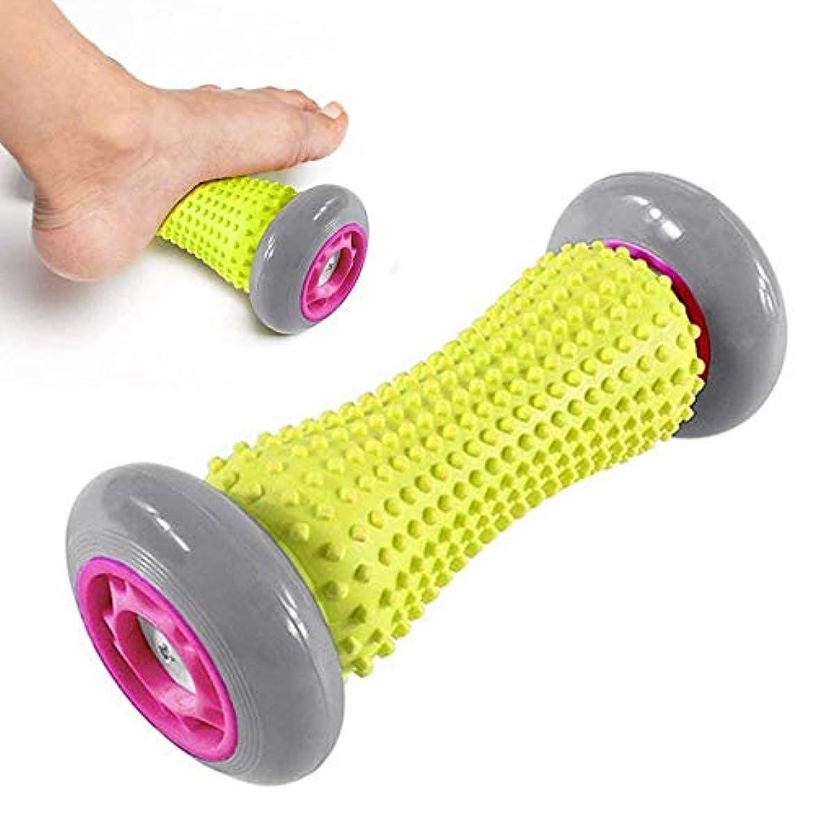 四回順応性苦しむフットマッサージローラー アーチの痛みと足底筋膜炎を和らげ、指圧マッサージツールマッスルリラックスローラースティックリリース 首/肩/腰/背中/太もも/小腿/足マッサージャー 腰痛?肩コリ?筋肉痛改善