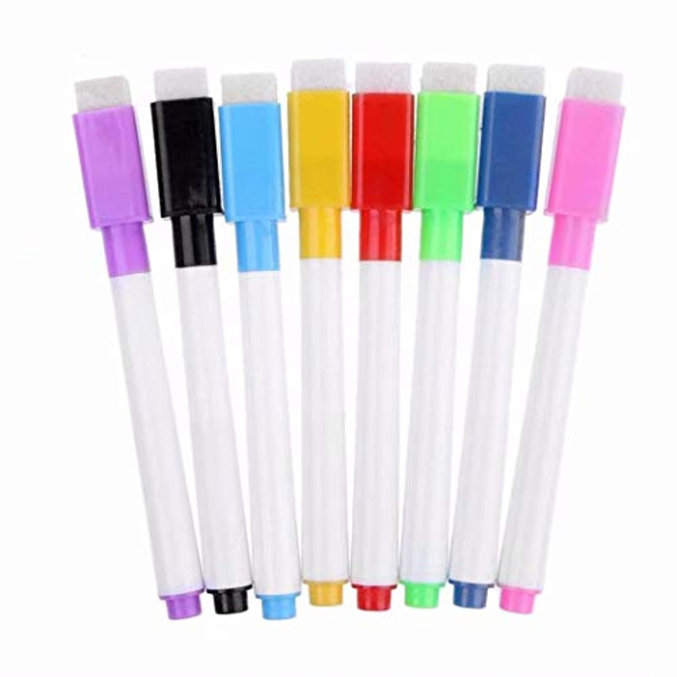 基本的なコンバーチブルピラミッド七里の香 磁気ホワイトボードペン消去可能なドライホワイトボードマーカーマグネットは、 イレーザー 学校教育事務用品 8個セット