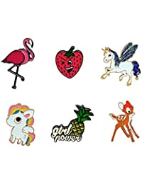 Cute Enamel Lapel Pins Sets Cartoon Animal Plant Fruits Foods Brooches Pin Badges for Clothing Bags Backpacks Jackets Hat DIY