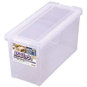 天馬 書籍収納ボックス 幅19.5×奥行45×高さ24cm A5・コミック本いれと庫 A5コミックサイズ クリア