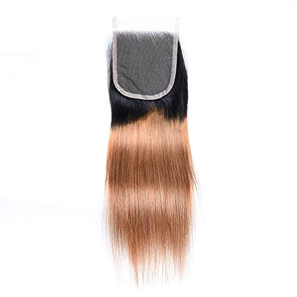 適度なラッチ同僚WASAIO 未処理のRemy人間の髪の毛のブラジルストレートトーンの色のかつら (色 : Blonde, サイズ : 14 inch)