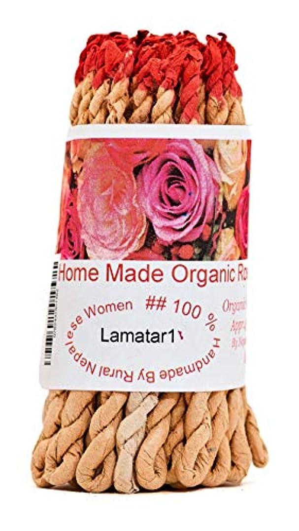 ブレス収益支払いHome Made有機ローズチベットRope Incense Made inネパール(各バンドルには約45 inロープ)
