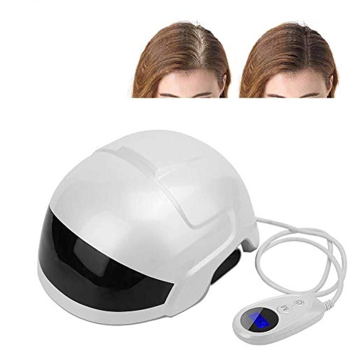 宇宙の犯人実施する育毛システム赤外線脱毛ヘルメットキャップ薄毛の男性と女性のための自然な脱毛ソリューション(米国のプラグ)