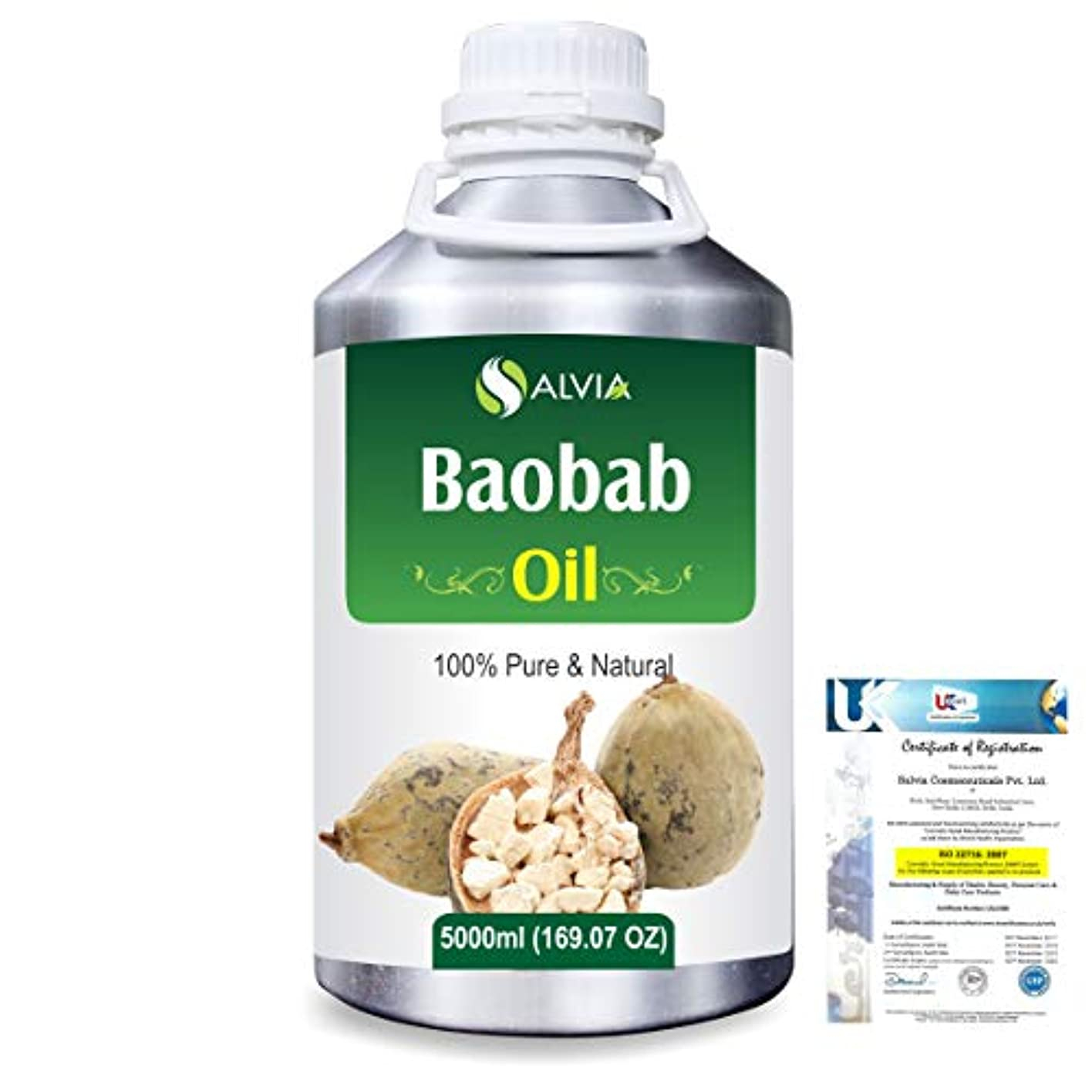 外科医登録するプーノBaobab (Adansonia Digitata) Natural Pure Undiluted Uncut Carrier Oil 5000ml/169 fl.oz.