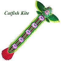 LargeグリーンシルクナマズKite – 中国手作りシルクKites