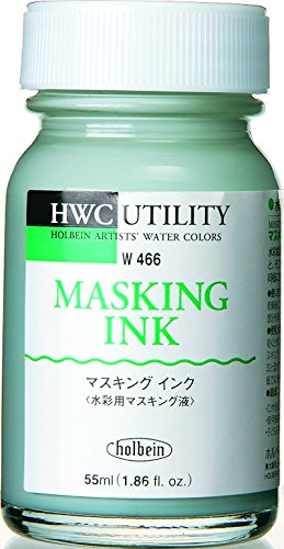 ホルベイン  水彩用メディウム マスキングインク W466 55ml