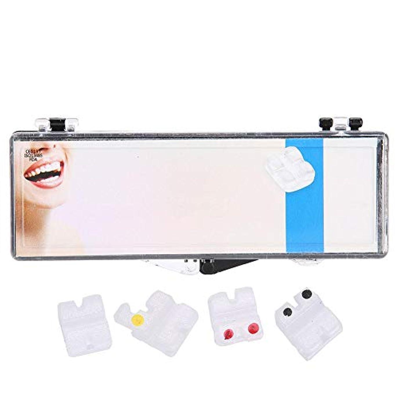 ワイヤー。満たすNitrip セラミックブラケット 歯科矯正ブラケット 歯科矯正装置 歯科矯正用 高品質 安全022MBT 3hooks