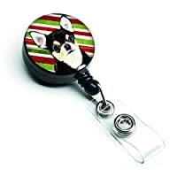 Caroline's Treasures Chihuahua Candy Cane Holiday Christmas Retractable Badge Reel Multicolor (SC9359BR) [並行輸入品]