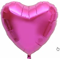 N-brand ハート型 アルミバルーン 50枚(空気入れ付き) (ピンク)