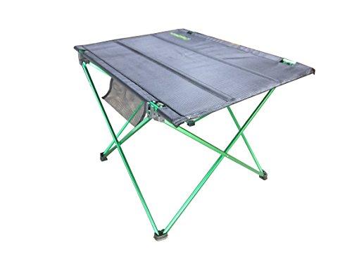 STEERTEC® アウトドアテーブル F-Table【エフテーブル】A7075ジュラルミン ソロキャンプ デュオキャンプ ホームパーティーのエクステンションテーブルなどインドアでも年中使えて軽量省スペース。 (Solo (サイズS))