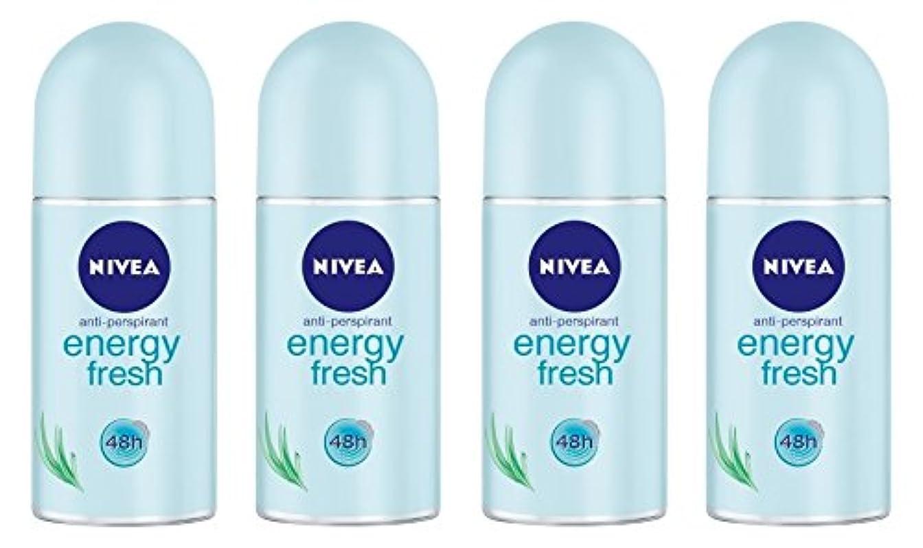 労働者声を出して舗装する(Pack of 4) Nivea Energy Fresh Anti-perspirant Deodorant Roll On for Women 4x50ml - (4パック) ニベアエネルギー新鮮な制汗剤デオドラントロールオン...