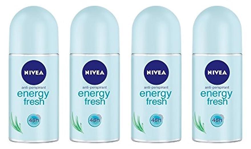 アンビエント腐食する逸脱(Pack of 4) Nivea Energy Fresh Anti-perspirant Deodorant Roll On for Women 4x50ml - (4パック) ニベアエネルギー新鮮な制汗剤デオドラントロールオン...