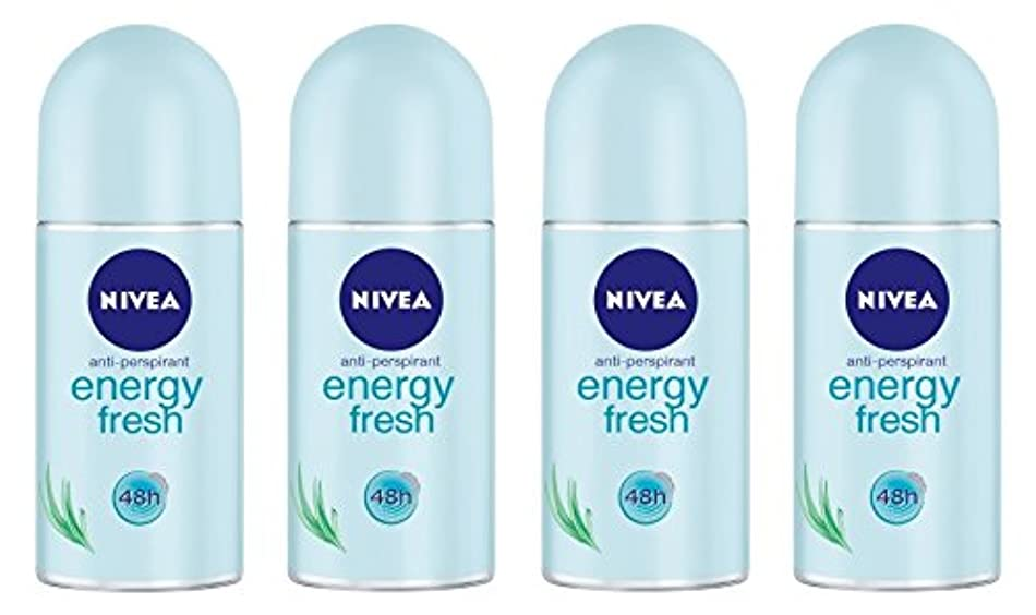 代理店服デジタル(Pack of 4) Nivea Energy Fresh Anti-perspirant Deodorant Roll On for Women 4x50ml - (4パック) ニベアエネルギー新鮮な制汗剤デオドラントロールオン...