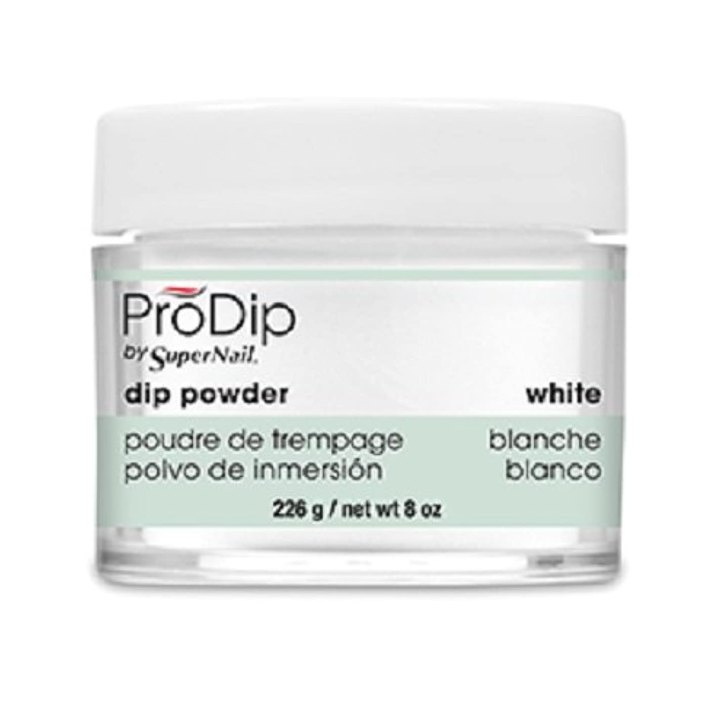 デジタル入り口必要条件SuperNail - ProDip - Dip Powder - White - 226 g/8 oz