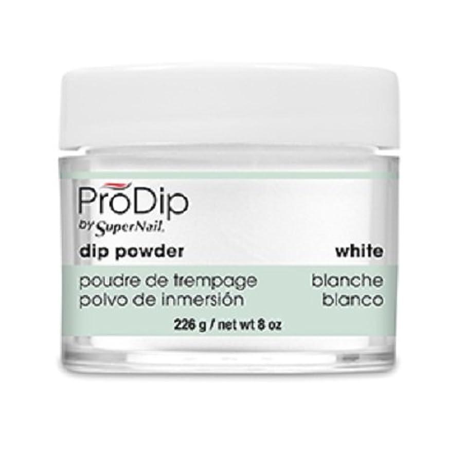率直な繊細楕円形SuperNail - ProDip - Dip Powder - White - 226 g/8 oz