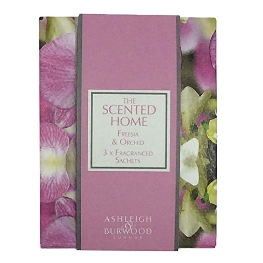 日記抵抗する普遍的なAshleigh&Burwood サシェ×3個 フリージア&オーキッド Sachet×3 Freesia&Orchid アシュレイ&バーウッド
