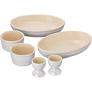 ルクルーゼ ペア テーブルウェア セット 食器セット ホワイトラスター 910409-00-296