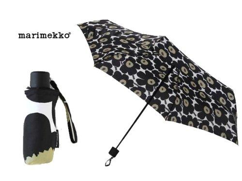 マリメッコ marimekko 折り畳み傘 038653-030 ウニッコ柄/ホワイト×ブラック 雨具/レイングッズ (並行輸入品)