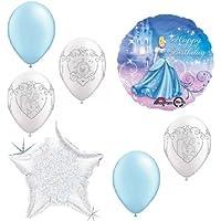 loonballoon Disneyシンデレラプリンセス7 pc誕生日パーティーブーケMylarラテックスバルーンセット
