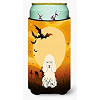 Carolines Treasures BB4336TBC Halloween Poodle White Tall Boy Beverage Insulator Hugger