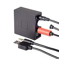 BluetoothカーキットハンズフリーBluetooth 3.5MM Auxオーディオ受信機アダプタワイヤレス音楽ステレオ