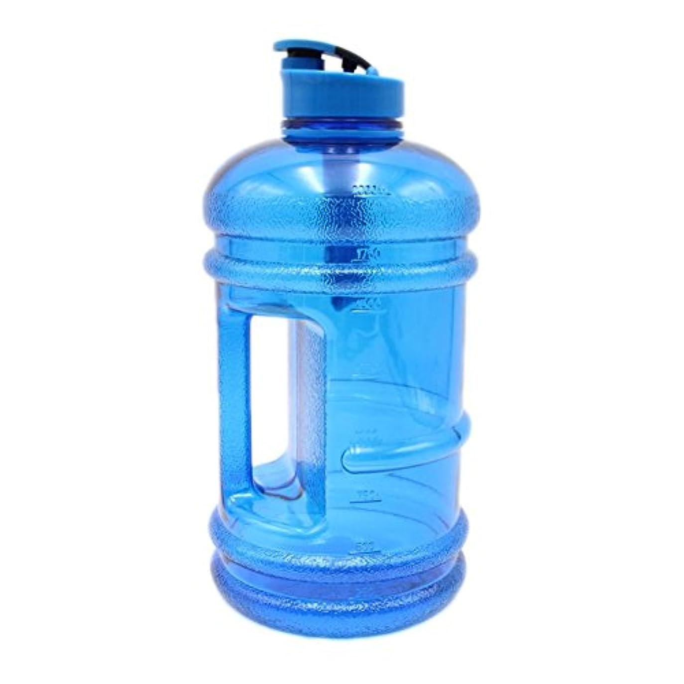 現代縮約レンディションスポーツボトル PETG製 大容量 2.2L 水ボトル 透明 水分補給 軽量 ジャグ 漏れ防止 ドリンク対応 5色選べる hjuns-Wu