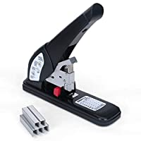 WoneNice Heavy Duty Stapler with 1000 Staples 150 Sheets Capacity Black [並行輸入品]