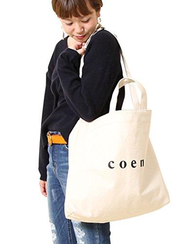 (コーエン) COEN 【2018SS Largeサイズ】coen2WAYロゴトートバッグ 76816078021 0300 OFF WHITE(03) FREE