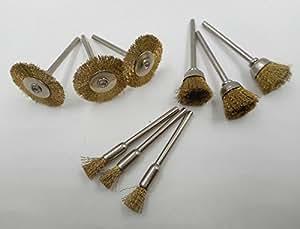 【compose】ミニ ルーター 用 ワイヤーブラシ 3種セット (真鍮波)