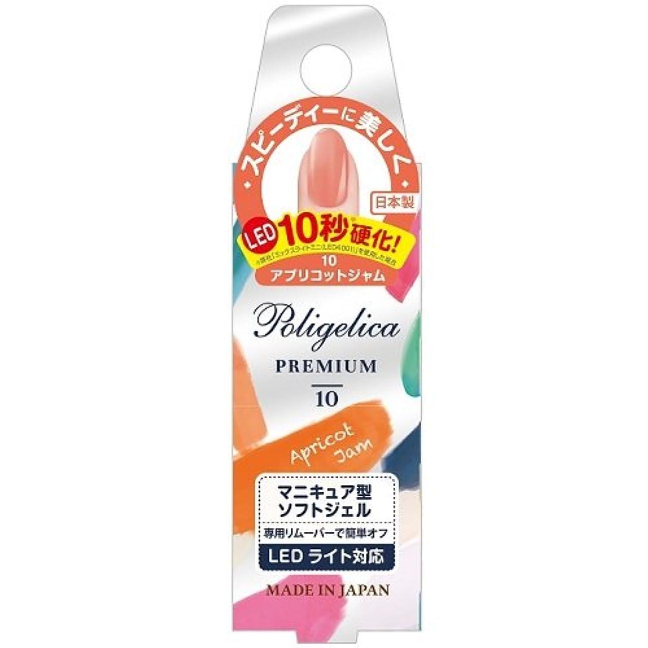 セクタアウター霧BW ポリジェリカプレミアム カラージェル 1010/アプリコットジャム (6g)