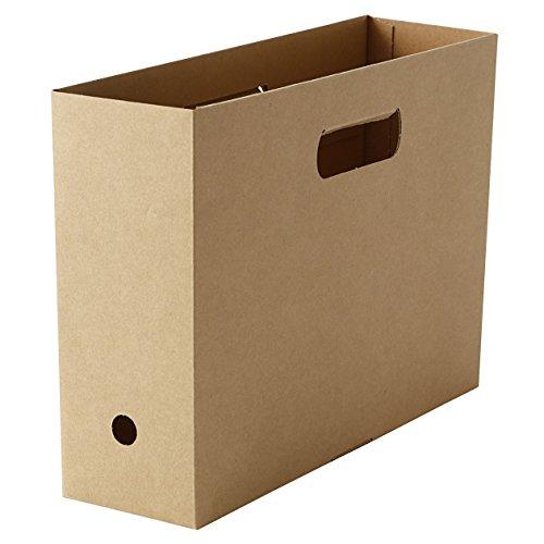 無印良品 ワンタッチで組み立てられるダンボールファイルボックス・5枚組 A4用・約100×316×246mm