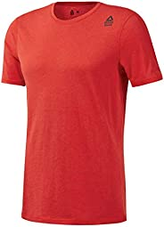 Reebok Crossfit Poly Blend Tee, Canton Red Mélange, L