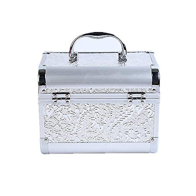 決定する嫌い化粧オーガナイザーバッグ コード化されたロックと化粧鏡で小さなものの種類の旅行のための美容メイクアップのための白い化粧ケース 化粧品ケース