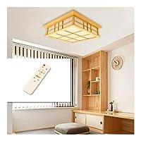 シーリングライトLEDソリッドウッドライトライトシーリングライトウッドライトリビングルームスタディベッドルームウッド照明[エネルギークラスA +] (Color : Stepless dimming, Size : 35cm)