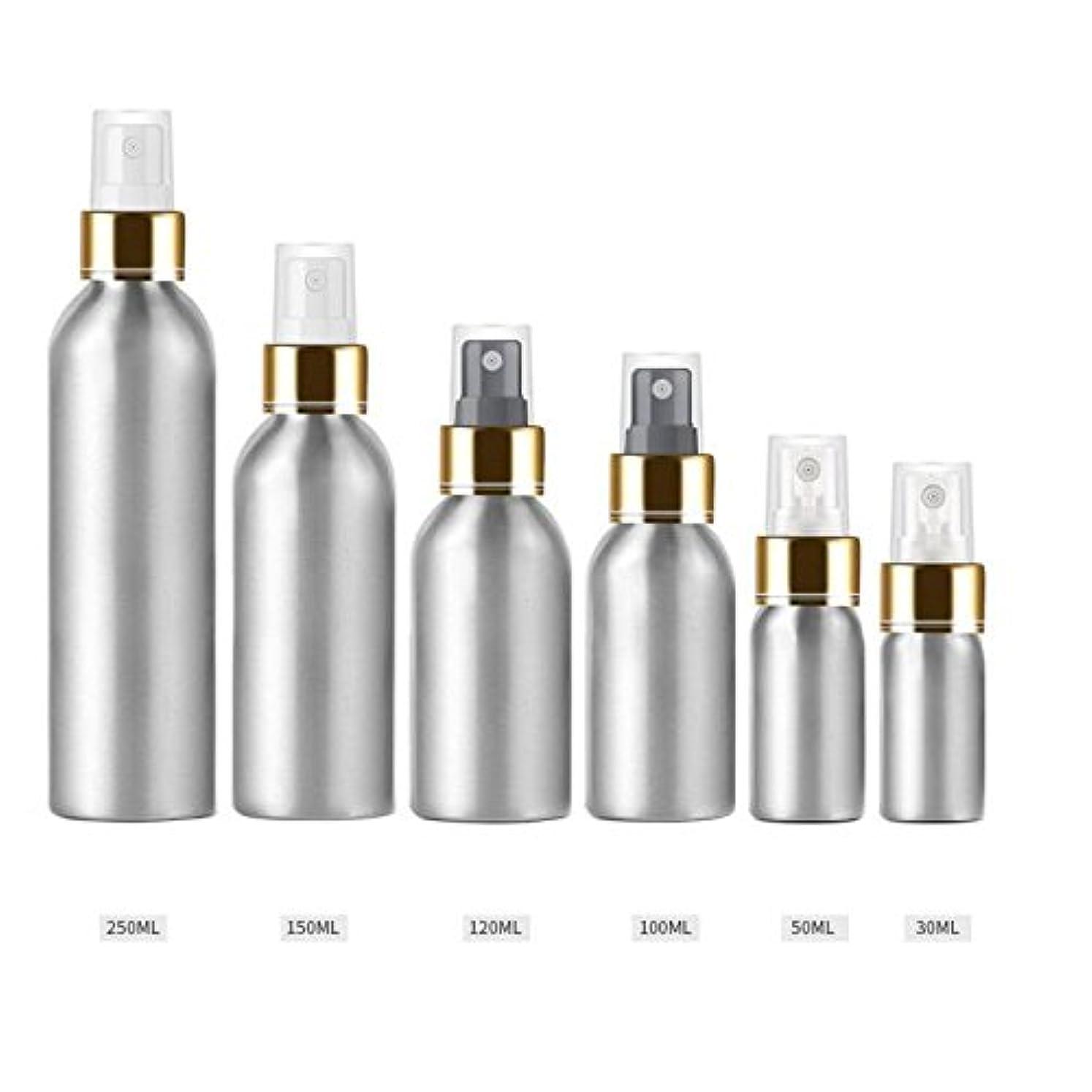うま付録無駄Beho 1本30M1-250Mlアルミボトルアルミブライトゴールドアルマイトアルミスプレーボトル日焼け止めスプレーボトルトナーボトルトラベル - 透明 - 100Ml