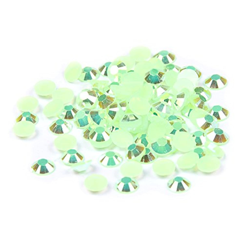 。教義偽物Nizi ジュエリー ブランド 緑オーロララインストーン は樹脂材質 ネイル使用 型番2mm-6mm (3mm 10000pcs)