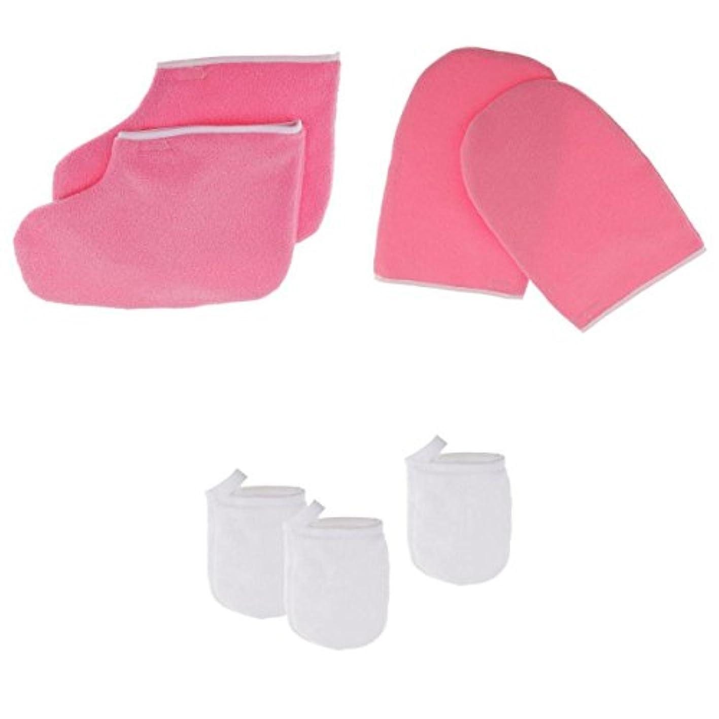すり不器用ピークKesoto グローブ パラフィンワックス保護手袋 フェイシャルクレンジンググローブ クレンジンググローブ メイクリムーバー パッド パラフィンワックス手袋