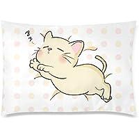 可愛い 子供 子猫の寝顔 座布団 50cm×72cm